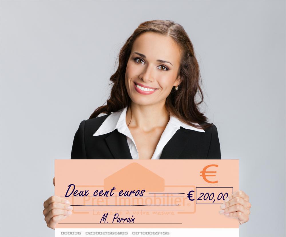 chèque 200 euros parrainage